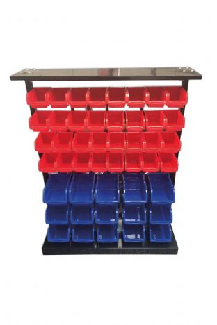Connect 36998 47 Storage Bin System C/W Bins and Metal Rack
